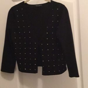 Black with gold sparkles sweater